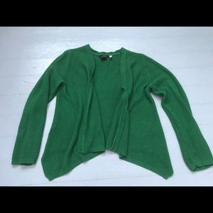 Green H&M knit open front cardigan